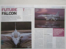 12/2003 ARTICLE 7 PAGES LOCKHEED MARTIN F-16E/F BLOCK 60 + CUTAWAY POSTER