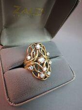 VTG 14k Yellow Gold 8 Diamond Cocktail Ring 1.19 CTTW FGH 11.96g Appraisal $6225