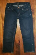 White House Black Market Noir Crop Leg  Dark Wash Size 4