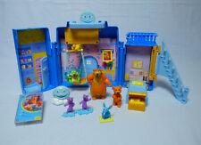 Der Bär im großen blauen Haus Spielhaus mit allen 7 Figuren Blaues Haus Ojo RAR