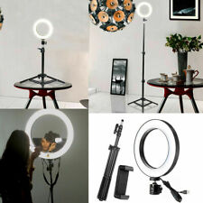 "10"" Selfie Ring Led 3 Lights Photography with Adjustable Stand & Mobile Holder"