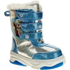 NEW DISNEY FROZEN TODDLER GIRLS SIZE 6 SOFT WINTER SNOW BOOTS ~ FREE SHIPPING!