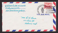 SCOTT #C39 US ARMY AIR FORCE COVER APO 34 NEUBRUCKE GERMANY 1955 WITH LETTER