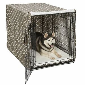 """Midwest QuietTime Defender Covella Dog Crate Cover Brown 24"""" x 18"""" x 19"""""""