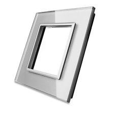 Livolo Glas Touch Schalter Lichtschalter Steckdosen Wechselschalter in Grau
