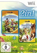 2 in 1: Meine Tierpension + Meine Tiersprechstunde -- Pyramide Software (Nintendo Wii, 2014, DVD-Box)