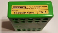 77415 REDDING TYPE-S FULL LENGTH BUSHING SIZING DIE - 6.5MM/284 NORMA - NEW