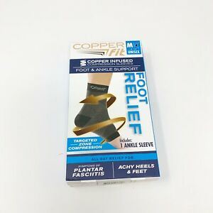 Copper Fit Copper Compression Sleeve Foot & Ankle Support - Medium