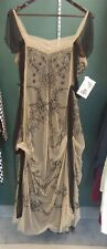 Victorian Trading Co Nataya Black & Tea Cold Shoulder Tulle Dress SZ XL 20R