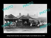 OLD LARGE HISTORIC PHOTO OF ALDINGA SOUTH AUSTRALIA, COACH BUILDING FACTORY 1890