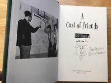 (SSG) BILL HANNA Signed Book with Fred Flintstones Drawing - Full JSA Letter COA