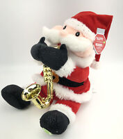 Animated Musical Santa W/ Saxophone Plays Have Yourself A Merry Little Christmas