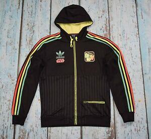 adidas  star wars track jacket boba fett rasta multicolor neon black firebird m