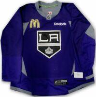 Los Angeles Kings Game Used Practice Jersey Purple McDonalds Patch Reebok Sze 56