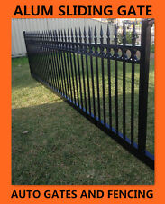 Aluminium Sliding Gate / Driveway Gate /Front Spear and Ring Top 4200m (w)