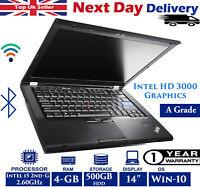 Lenovo ThinkPad T420 14'' Laptop Intel i5 2nd-Gen 4GB RAM 500GB HDD Windows 10