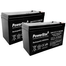 PowerStar® 2 Pack - 12V 7.5AH BATTERY FOR RAZOR E200 & E300S ELECTRIC SCOOTER