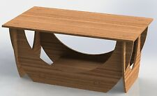 Vector File of Center Table for Cutting on CNC Router or Laser Art on Wood 054