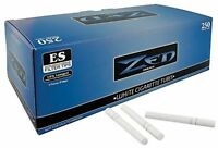ZEN Blue Light King Size - 3 Boxes - 250 Tubes Box RYO Tobacco Cigarette White