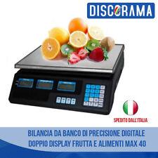 BILANCIA DA BANCO DI PRECISIONE DIGITALE DOPPIO DISPLAY FRUTTA E ALIMENTI MAX 40