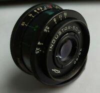 INDUSTAR-50-2 50mm f3.5 lens M42 Zenit Micro 4/3 Tessar Pentax camera 1974
