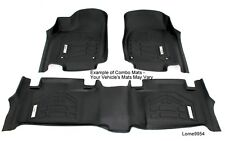 COMBO 1st and 2nd Row Floor Mats 2014 - 2018 GMC Sierra HD Double Cab