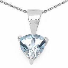 Schmuck-Schmidt-Blautopas-Trillion-Collier-925 Sterling-Silber-0,80 Karat