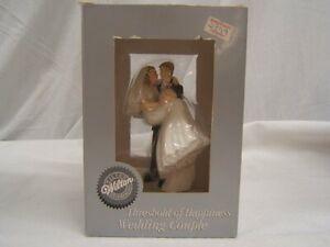 "Wilton ""Threshold of Happiness"" Wedding Couple Cake Topper 5"" NIB"