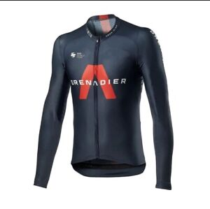 NEW Long Sleeve Men's INEOS GRENADIER BLACK CYCLING Jersey Breathable