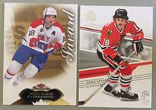 2 2014-15 Denis Savard Cards SP Authentic #79 & Showcase #92 Montreal Canadiens