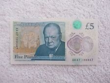 NEW POLYMER £5 POUND NOTE GANGSTER RIFLE SERIAL NUMBER  AK 47 199347. ENDS 47.