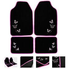 Auto Fußmatten Autoteppich Textil Universal 4-teilig Matten Set Pink AM7141