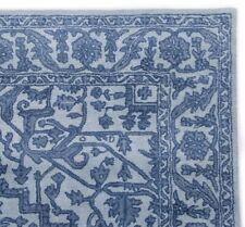 Floral Light Blue Oriental Oushak 8'x10' Hand-Tufted 100% Wool Area Rug Carpet