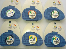 Rio Jeux Olympiques 2016 Broches Badges Set de 6 sur Support cartes de Londres 2012