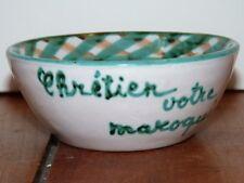Rare petit bol  Chrétien votre maroquinier  signé A.Fazio  artisan à Vallauris