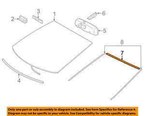 TOYOTA OEM 12-17 Prius V Windshield-Reveal Molding 7554947010