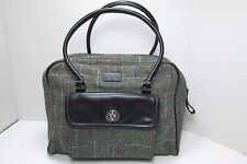 E G O Vintage Inspired Gray Tweed Satchel Handbag Purse