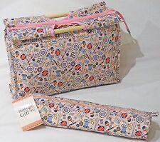 BNWT Hobby Regalo Turquesa tejido de diseño de lunares-Bolsa De Artesanía//tejer//casos De Pin