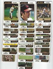 1974 Topps Baltimore Orioles Team Set