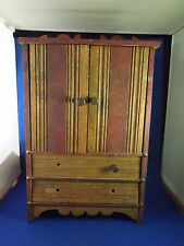 Vintage Miniature Small Shelf Cupboard with 2 Drawers