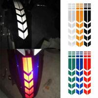 Motorcycle PVC Reflective Stickers Wheel on Fender Warning Arrow Tape Waterproof