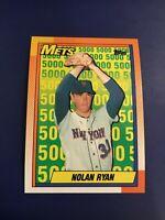 1990 Topps # 2 NOLAN RYAN New York Mets Years 1965-1971 Set Break MINT