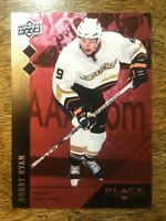 2009-10 UD Black Diamond Ruby Red - BOBBY RYAN #106 Anaheim Ducks Double 36/100