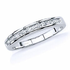 Zirconia Wedding Bands for Women 925 Sterling Silver Jewelry Anniversary Cubic