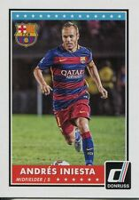 Donruss Soccer 2015 Base Card #72 Andres Iniesta