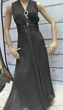 Sheego Eventkleid Abendkleid Kleid Maxi Gr. 40 bis 58 schwarz Lang (348)
