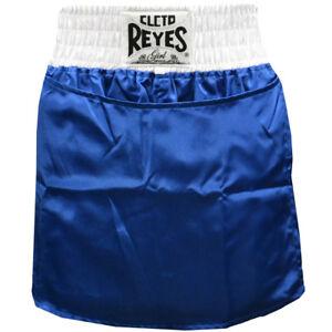 Cleto Reyes Women's Satin Boxing Skirt Trunks - Blue/White