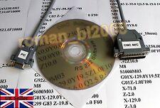CNC RS 232 DNC Serial Cable For Fanuc, Mazak, Mitsubishi & More Length - 3m