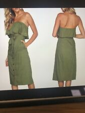Bardot Khaki Dress. Size 12 Brand New Never Worn.