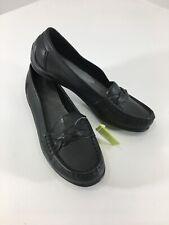 Hotter Womens Slip On Selena Braided Toe Flat Loafer Shoes Black US:7 NWT @
